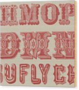 Examples Of Letters  Wood Print