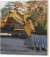 Excavator Wood Print
