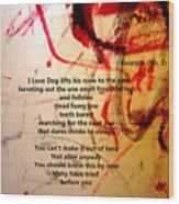 Excerpts No. 1 Wood Print