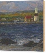 Execution Lighthouse Wood Print