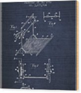 Exercise Machine Patent From 1961 - Navy Blue Wood Print