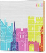 Exeter Skyline Pop Wood Print
