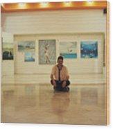 Exhibition Pza. Pelicanos Wood Print