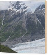 Exit Glacier Wood Print