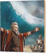 Exodus Moses And Pharaoh  Of Egypt Wood Print