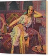 Exotic  Beauty Wood Print by Pg Reproductions