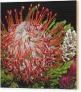 Exotic Bouquet Wood Print
