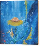 Exotic Colorful Flowers Abstract Composition Wood Print