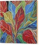 Exotic Foliage Wood Print