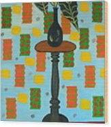 Exotic Plant On Stand Wood Print