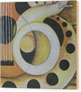 Exotic Rhythm 1 Wood Print