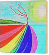 Expansive Flowing Colors In Nature Wood Print