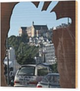 Experiencing Welly Through Art Wood Print