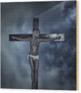 Experimental Crucifix In The Light Wood Print