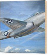 Experimental Jet Fighter Xp-83 In Fly Wood Print