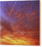 Exploded Sky Wood Print