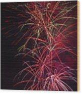 Exploding Festive Fireworks Wood Print