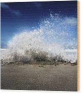 Exploding Seas Wood Print