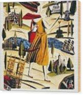 Explore London With A London Transport Explorer Pass - London Underground - Retro Travel Poster Wood Print