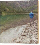 Exploring Glacier Wood Print
