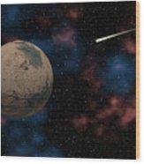Exploring Planet Mars Wood Print