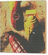 Explosive Ordnance Wood Print