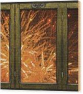 Exposion Of Light Wood Print