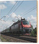 Express Train Wood Print