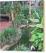 Expressionalism Beautiful Garden  Wood Print