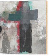 Expressionist Cross 4- Art By Linda Woods Wood Print