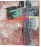 Expressionist Cross 5- Art By Linda Woods Wood Print