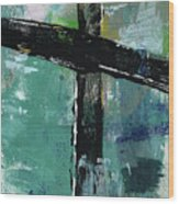 Expressionist Cross 8- Art By Linda Woods Wood Print