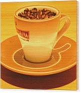 Expresso.piccolo.arancione Wood Print