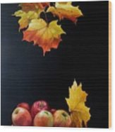 Expression Of Yellow Leaves. Wood Print