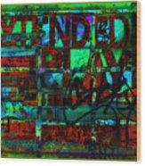 Extended Play Graffiti Radio/tonyadamo Wood Print