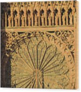 Exterior Of The Rose At Strasbourg Cathedral, France Wood Print