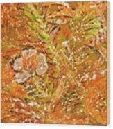 Extravaganza Orange Wood Print