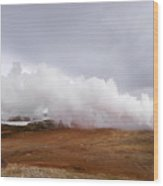 Extreme Hot Spring Area Wood Print