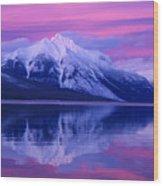 Extreme Sunset On Lake Mcdonald Wood Print