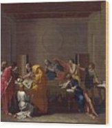 Extreme Unction Nicolas Poussin Wood Print