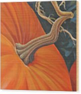 Exuberant Pumpkin Wood Print