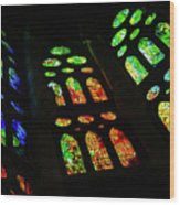 Exuberant Stained Glass Windows Wood Print