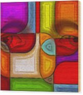 Eye Abstract Wood Print