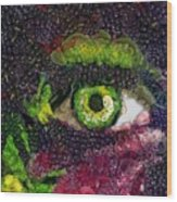 Eye And Butterflly Vegged Out Wood Print