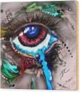 Eye Ball Study One Wood Print