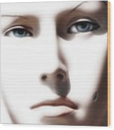 Eye Contact Wood Print by Dan Holm