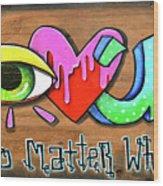 Eye Heart U Wood Print
