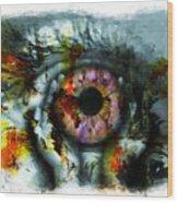 Eye In Hands 001 Wood Print