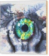 Eye In Hands 002 Wood Print