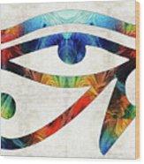 Eye Of Horus - By Sharon Cummings Wood Print